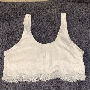 Tank top/lace material Bralette Aerie